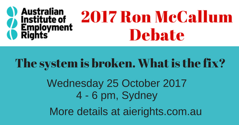 2017 Ron McCallum Debate