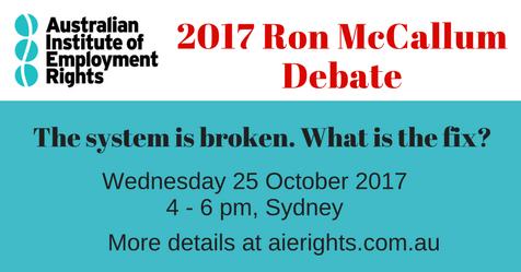 2017 Ron McCallum Debate